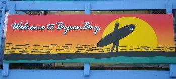 Foto de bienvenida byron bay australia