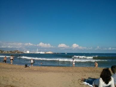 Sunny barcelona surf