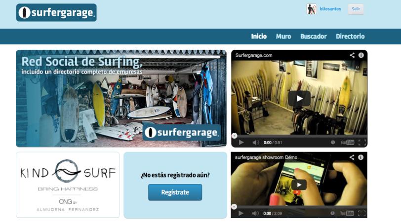 Surfergarage, red social de surfistas
